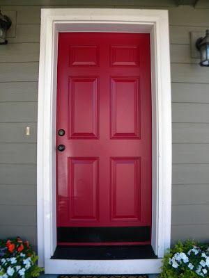 painted red door